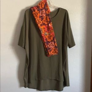 2XL - LulaRoe Outfit - Irma Top with Legging